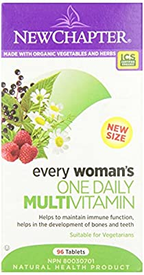 New Chapter Every Woman's One Daily Multi-Vitamin Tablet, 96-Count