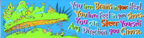 Eureka Dr. Seuss Classroom Banner, Oh The Places, 12 x 45 Inches (849616)