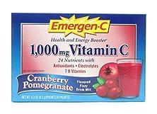 buy Emergen-C 1000 Mg Vitamin C, Cranberry Pomegranate 30 Packets