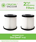 2 dirt devil hepa style f62 vacuum filters fit sd40100 featherlite part  440001893 designed  engineered by crucial vacuum
