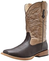 Big Sale Best Cheap Deals Roper Men's Basic Square Toe Equestrian Boot,Brown,11 M US