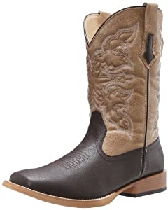 Roper Men's Basic Square Toe Equestrian Boot,Brown,12 M US