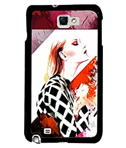 Fuson Style Girl Back Case Cover for SAMSUNG GALAXY NOTE 1 - D4020