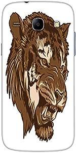 Snoogg Vector Tiger Designer Protective Back Case Cover For Samsung Galaxy Co...