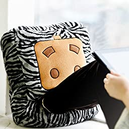 LIWUYOU Winter Cute Zhang Box Plush USB Heating Warm Feet Shoes, Hand Warmer with Small Blanket, Zebra