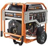 Generac 5802 XG10000E 10,000 Watt 530cc OHVI Gas Powered Portable Generator with Wheel Kit & Electric Start