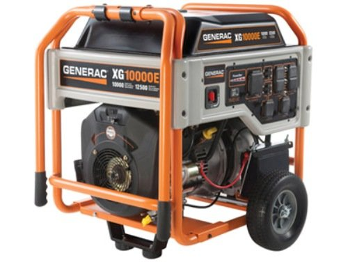 517%2B6i3GSBL. SL500  Generac 5802 XG10000E 10,000 Watt 530cc OHVI Gas Powered Portable Generator with Wheel Kit  &  Electric Start