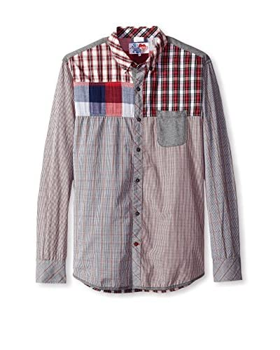 Desigual Men's Mixed Pattern Shirt