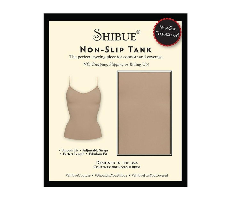 Shibue Couture Non-Slip Tank - Formendes Tank Top - Farbe Nude (Haut), Größe M
