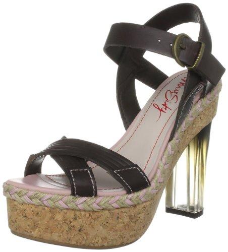Miss Sixty Women's Gwen Coffee Ankle Strap Q02010-LE9635-H05320