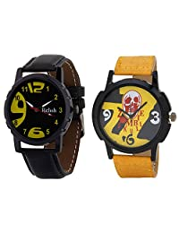 Relish Black Analog Round Casual Wear Watches For Men - B019T7LHI8