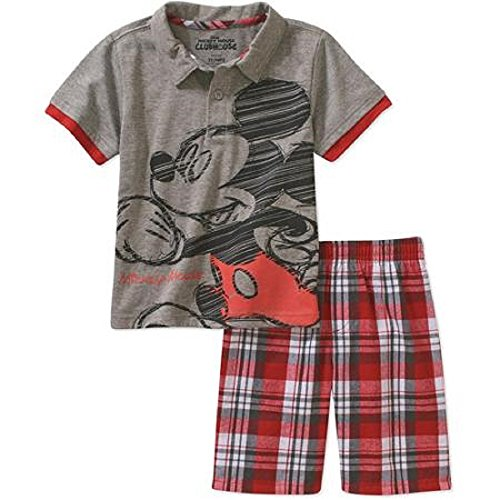 Mickey Mouse Toddler Boy Tee and Shorts Outfit Set