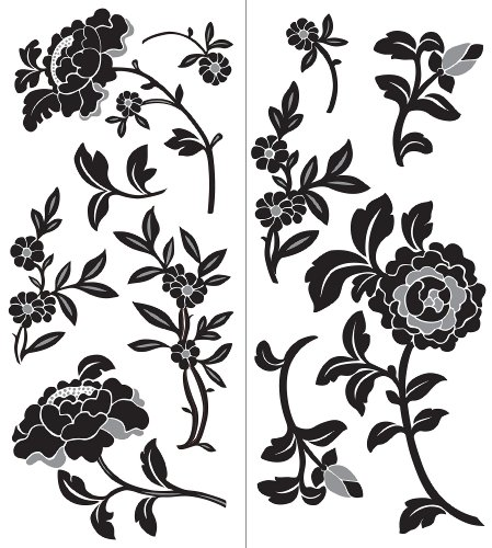 Brewster Wall Pops WPK99818 Peel & Stick Brocade Wall Art Kit, 2-Sheets