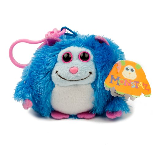 Jerry DARK BLUE Monstaz Plush Toy Key Clip 3.25in Child Safe KeyChain Stuffed Ty Inc licensed characters // Many Colors Available //