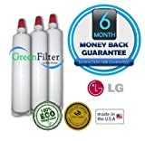 LG 5231JA2006B, 5231JA2005A, 5231JA2005A-S, 5231JA2006F, LT600P Compatible Water Filter 3 Pack