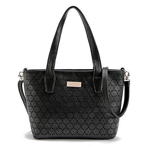 B-B Women's honey top-handle hollow texture bag