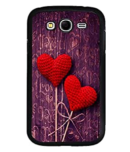 printtech Love Heart Wooden Pattern Back Case Cover for Samsung Galaxy Grand Neo::Samsung Galaxy Grand Neo i9060