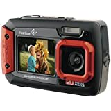 Ivation 20MP Underwater Shockproof Digital Camera & Video Camera w/Dual Full-Color LCD Displays - Fully Waterproof & Submersible Up to 10 Feet (Red)