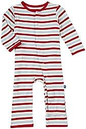 Kickee Pants Print Coveralls (Baby) - Balloon Stripe-Preemie