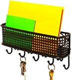 DecoBros Wall Mount Mail Letter and Key Rack Holder Organizer, Bronze
