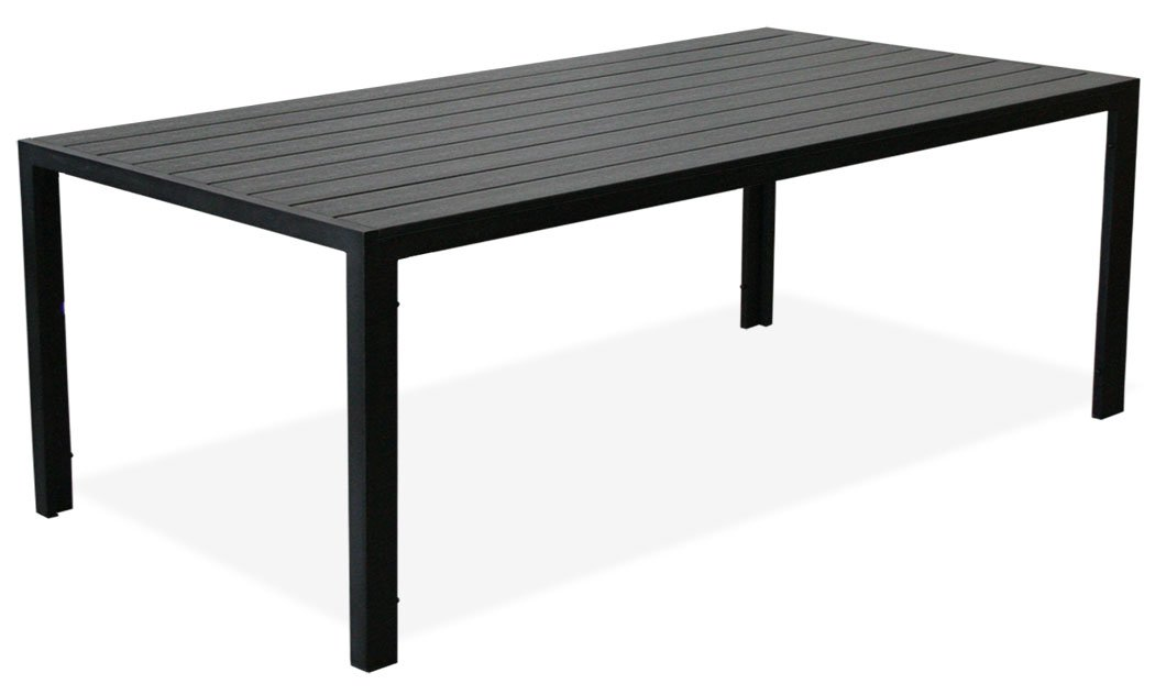 """KMH®, Schöner schwarzer Holzimitat-Tisch """"Tuco"""" (205 x 90) (#106132) günstig"""