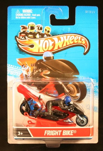 FRIGHT BIKE (Black / Red / Blue) * MOTORCYCLE & RIDER * Hot Wheels 1:64 Scale 2012 Die-Cast Vehicle - 1