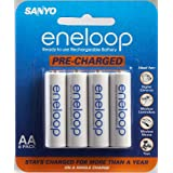 Sanyo Eneloop AA NiMH Pre-Charged Rechargeable Batteries - 8 Pack ~ Sanyo