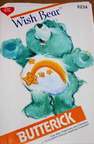 Care Bear Wish Bear Sewing Pattern Butterick 6234 Vintage 1983 Stuffed Bear front-527914