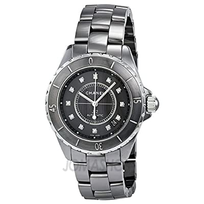 Chanel J12 Titanium Dial Ceramic Ladies Watch H3242