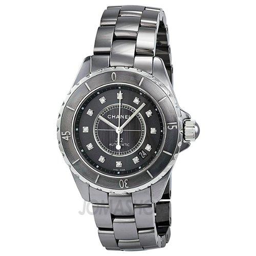 Chanel J12 Titanium Dial Ceramic Ladies Watch H3242