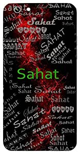 Sahat (Mighty; Strong) Name & Sign Printed All over customize & Personalized!! Protective back cover for your Smart Phone : Samsung Galaxy E5