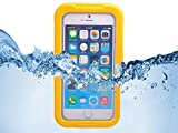 Queens® Waterproof Case Cover for Apple Iphone 6 4.7 Inch, Dustproof Snowproof Shockproof Premium Slim Hard Armor Protective Advanced Shock Absorbing Fit Cover Case with Screen Protect and Touch Pen for Apple Iphone 6 (4.7 Inch 2014 Release)(1-yellow)