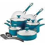 SilverStone Ceramic CXi Nonstick 12-Piece Cookware Set, Marine Blue