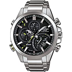 Casio - Edifice - Bluetooth Mobile Link Function Watch - EQB500D-1A - Analog, World Time, Solar Powered