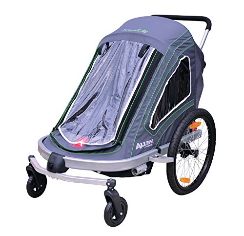 Discover Bargain Allen Sports Aluminum 2 Child Trailer/Single & Double Swivel Wheel Stroller
