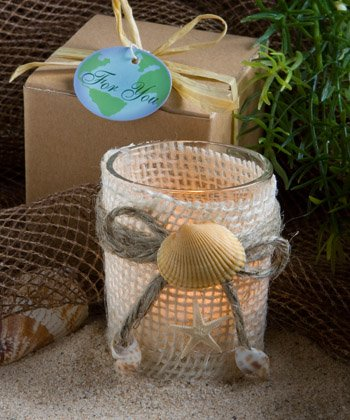 Set of 100 Beach Theme Votive Candles Wedding Favors Free Shipping