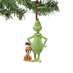 #!Cheap Grinch from Department 56 Flocked Grinch & Santa Max Ornament