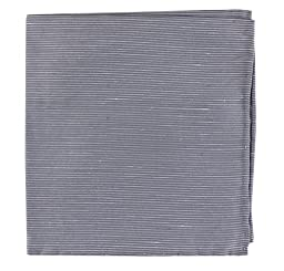 Linen Blend Fountain Solid Silver Pocket Square