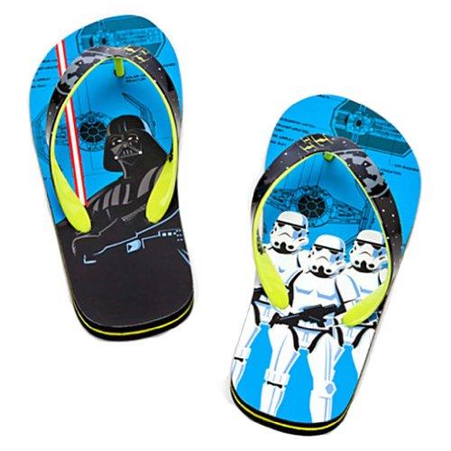 Disney Store - Boys -Star Wars - Dry Walker - Flip Flops - Blue - Size 9/10 front-90825
