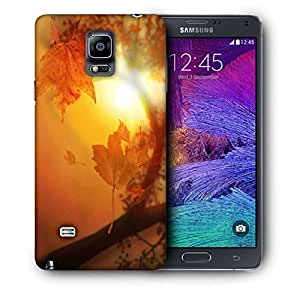Snoogg Orange Autumn Printed Protective Phone Back Case Cover For Samsung Galaxy NOTE 4 / NOTE IIII