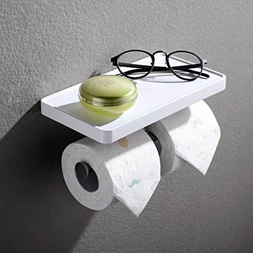 Toilet Paper Holder Shelf Modern Wall Mounted Toilet Paper Holder Storage Rac