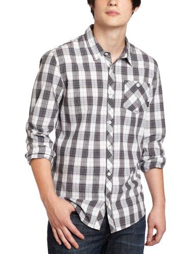 O'Neill Men's Ellison Plaid Shirt, Black, Small