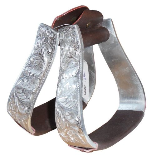 Aluminium-Steigbügel braun