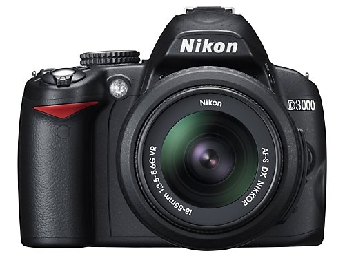 Nikon D3000 10.2MP Digital SLR Camera with 18-55mm f/3.5-5.6G AF-S DX VR Nikkor Zoom Lens (Nikon Camera D 3000 compare prices)
