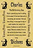 A4 Size Parchment Poster Literary First Lines Charles Dickens The Old Curiosity Shop