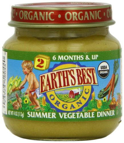 Baby / Child Earth's Best Organic 2nd Meal For Babies 6 Mos & Up - 4 Oz Jars (Pk Of 12) - Summer Vegetable Dinner Infant