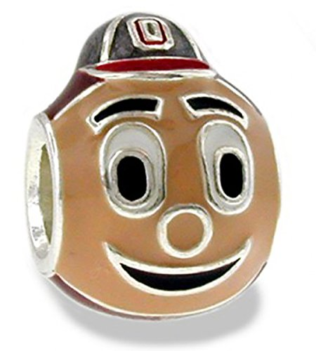 Ohio State Buckeyes Brutus 3-D Bead Charm - Fits Pandora & Others