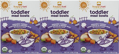 Happy Baby Happy Tot Toddler Meal Bowls - Vegetables Brown Rice & Turkey - 3 Pk