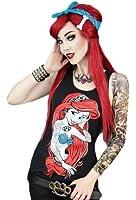 Restyle Cry Havoc Clothing Gothic Punk Twist Mermaid Rebel Tattoo Stretcher Anchor Spikey Ladies Girls Vest Top