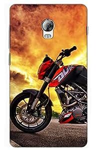 bike Designer Printed Back Case Cover for Lenovo Vibe P1
